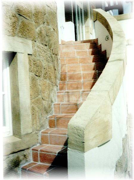 natursteinverlegung aussen treppe tritt stufen harz fliesenleger, Hause ideen